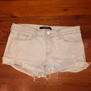 light blue j-brand cut off shorts